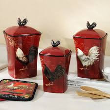 Colorful Kitchen Canisters Sets Finding Best Kitchen Canister Sets Image Of Rooster Arafen