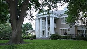 Neoclassical Style Homes Big Family House Cozy Mansion Comfortable Zone Fly Camera