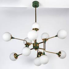 12 Bulb Chandelier Stilnovo 12 Globe Chandelier Globe Chandeliers And Pendant Lighting