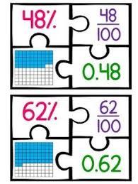 fractions decimals percents fifths 3 fractions pinterest