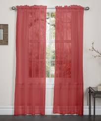 4 piece sheer voile window curtain panel solid red new sheer red