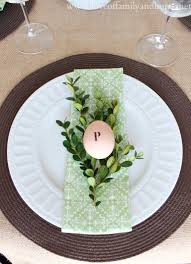 simple spring tablescape green u0026 white love of family u0026 home
