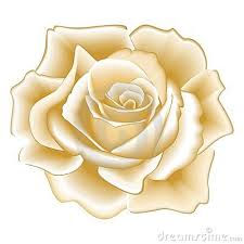 Gold Rose Rose Clipart