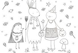 cute halloween coloring pages print color skip lou