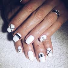 black and white stiletto nail designs images nail art designs