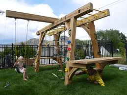 building backyard monkey bars home outdoor decoration