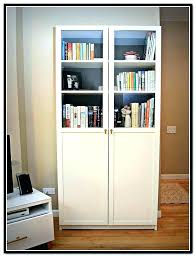 Billy Bookcases With Doors Ikea Bookcase With Doors Bejohome Co