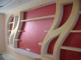 niche and shelves of drywall interior design interesting and