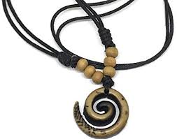 beading cord necklace images Mariners cord necklace with spiral yak bone carved maori pendant jpg