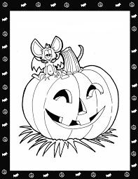 halloween pumpkin colouring pages kids print hallowen