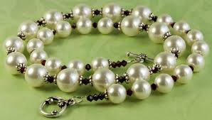 Jewelry Making Design Ideas Pearl And Garnet Necklace Jewelry Design Ideas