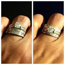 Stacked Wedding Rings by How Do You Wear Your Stacked Rings Weddingbee
