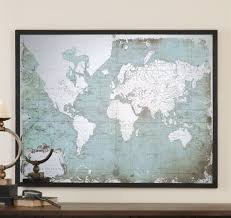 World Map Framed Family World Map Wall Decal Art Design Idea And Decorations