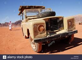 jeep land rover a 4x4 jeep land rover in wadi rum jordan stock photo royalty free