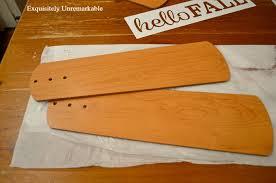 ceiling fan blade wooden door tag sign exquisitely unremarkable