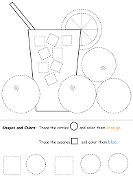 shape recognition worksheet squares and circles