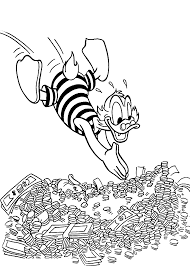 scrooge mcduck plunge scrooge mcduck coloring pages pinterest