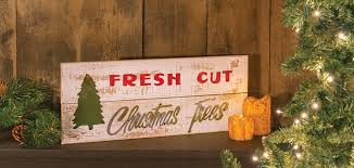 fresh cut tree sign
