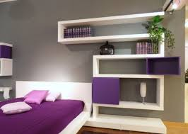 floating bed bedroom simple bedside tables along with black iron table lamp