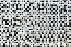 creative black and white mosaic bathroom tile on small home decor