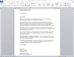 contoh surat lamaran kerja akuntansi dalam bahasa inggris