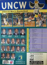 Uncw Map Men U0027s Basketball Schedule Poster Uncw Archives And Special