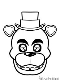 nights freddy u0027s coloring pages print color