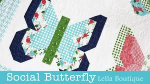 how to make the social butterfly quilt lella boutique fat
