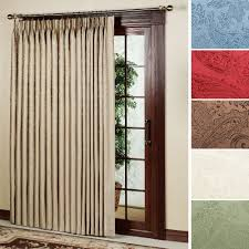Interiors Sliding Glass Door Curtains by Interior Pinch Pleat Sliding Door Curtains Patio Panel Drapes