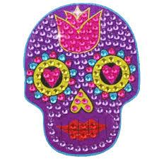 pretty sugar skull sticker bling bling