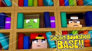 Minecraft Secret Bookshelf Door Minecraft Secret Base How To Build A Base In A Secret Bookshelf