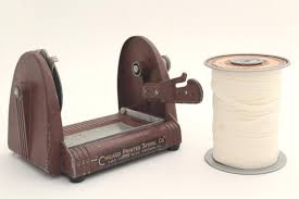 ribbon dispenser vintage spool holder w cutter parcel wrapping twine gift