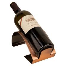 danya b single bottle electroplated wine holder copper target
