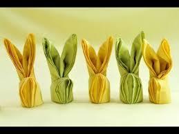 easter napkins how to make easter bunny napkins