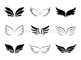 different wing designs stock vector illustration of graphical