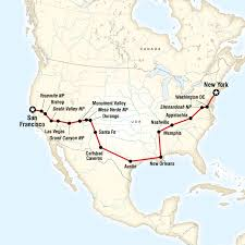 map your usa road trip coast to coast road trip eastbound in new york city usa
