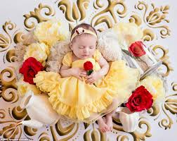 Baby Photoshoot Disney Princess Newborn Baby Photoshoot Is Adorable Daily Mail