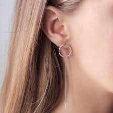 threaded earrings le soleil large circle threaded earrings dovilė b