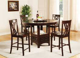claire lazy susan storage base 5 piece counter height dining set