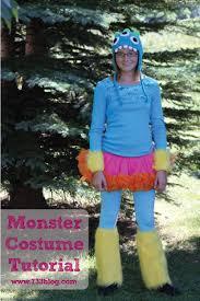 Blue Monster Halloween Costume Monster Halloween Costume Tutorial Inspiration Simple