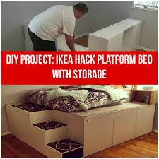 ikea kitchen cabinet storage bed ikea hack diy platform bed with storage from ikea kitchen