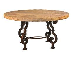 Dining Round Table This Rustic Dining Table Starts With Thick Metal The Raw Metal Is
