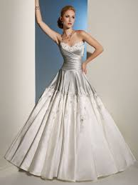 silver wedding dresses silver and white draped bodice wedding dress