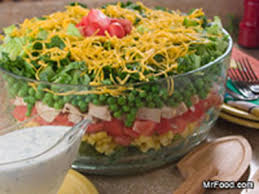 mr food rainbow stacked salad easy home meals