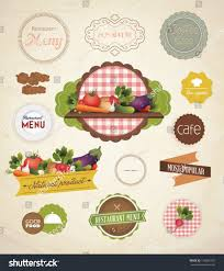 vector label set restaurant menu design stock vector 142806742