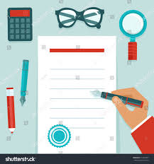 writing concept paper vector resume concept flat style businessmans stock vector vector resume concept in flat style businessman s hand writing on white paper document