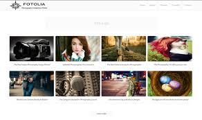 fotolia photography blogger template blogger templates gallery