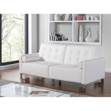 White Leather Sofas White Leather Sofa Bed At Overstock Com