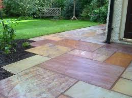 Garden Slabs Ideas Patio Slabs Design Ideas Nontumbled Paver Texture With Patio