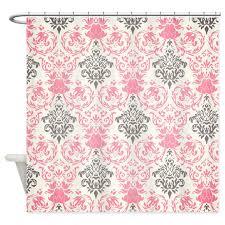 Blue Damask Shower Curtain Pink Damask Shower Curtains Cafepress